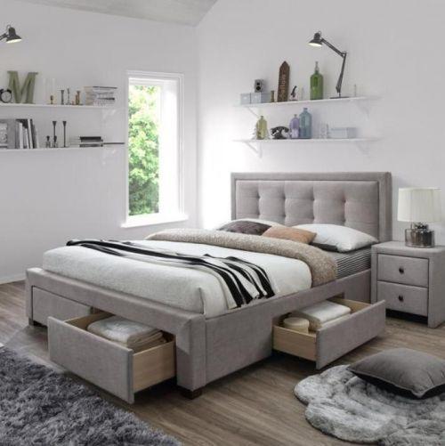 Кровать Halmar EVORA (бежевый)