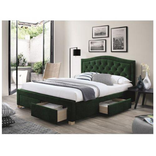 Кровать Signal ELECTRA Velvet (зеленый) 160/200