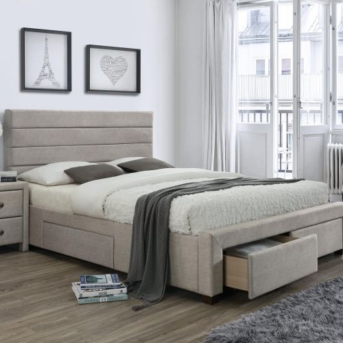 Кровать Halmar KAYLEON (бежевый) 160/200
