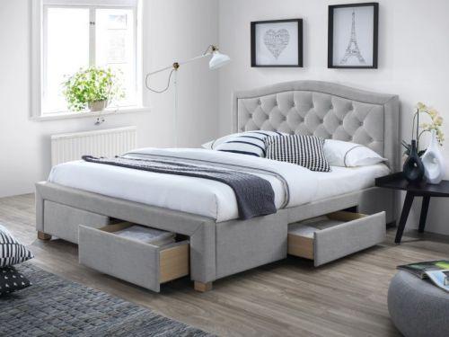 Кровать Signal ELECTRA (серый) 160/200