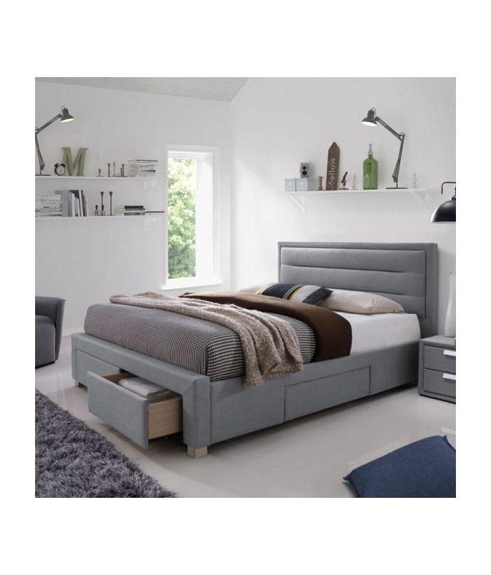 Кровать Signal INES (серый) 160/200