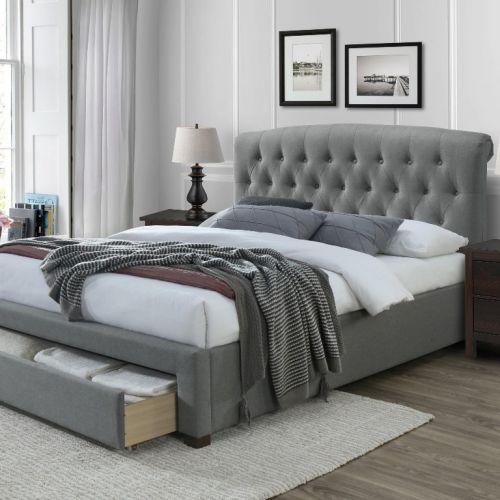 Кровать Halmar AVANTI (серый) 160/200