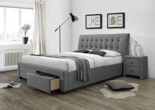 Кровать Halmar PERCY (серый) 160/200