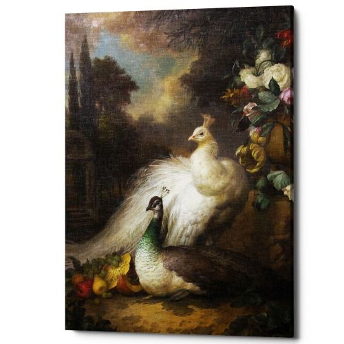 Картина «Королевский павлин», версия 1 (холст, галерейная натяжка)