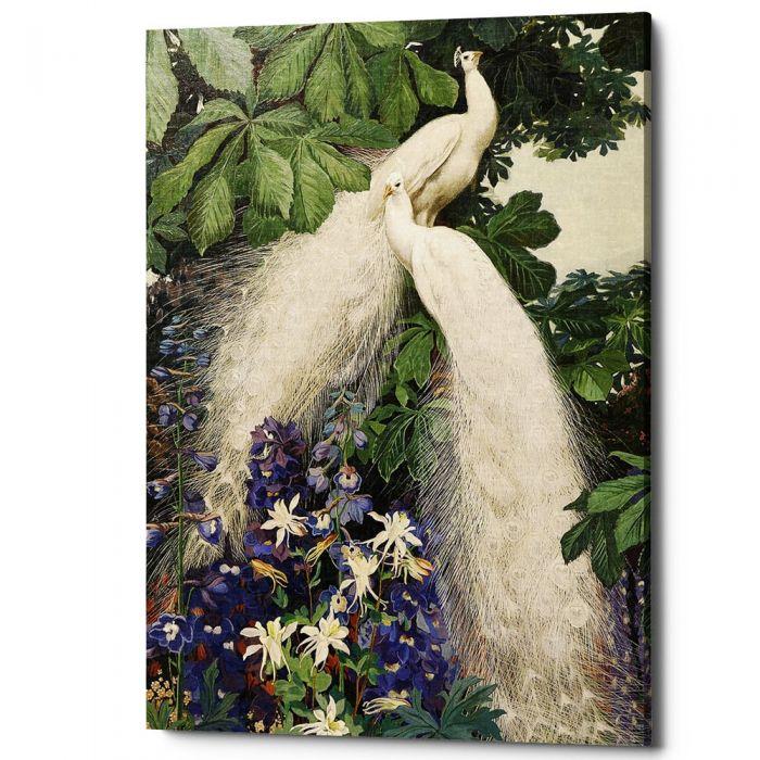 Картина «Королевский павлин», версия 2 (холст, галерейная натяжка)