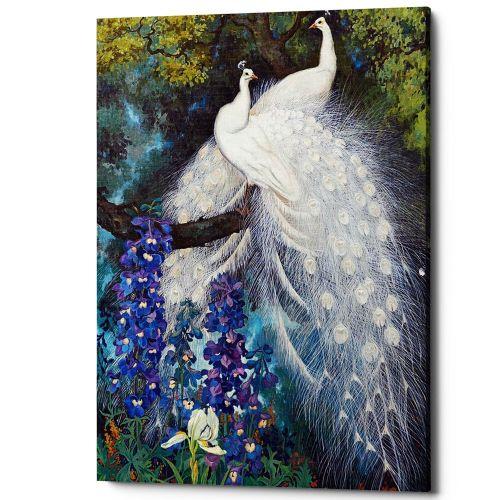 Картина «Королевский павлин», версия 3(холст, галерейная натяжка)