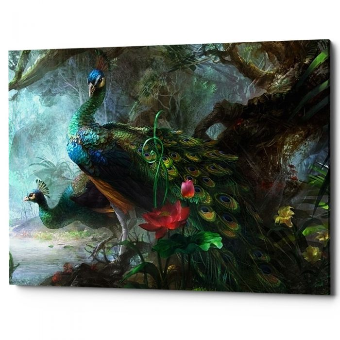 Картина «Царь-птица», версия 1 (холст, галерейная натяжка)