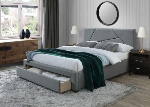 Кровать Halmar VALERY (серый/орех) 160/200
