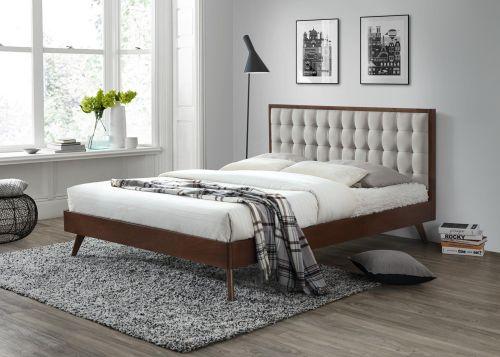 Кровать Halmar SOLOMO (бежевый/орех) 160/200