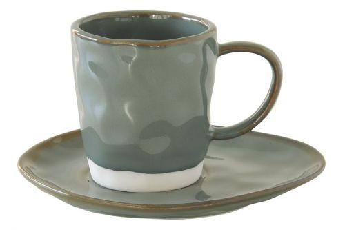 Чашка с блюдцем (серый) Interiors без инд.упаковки