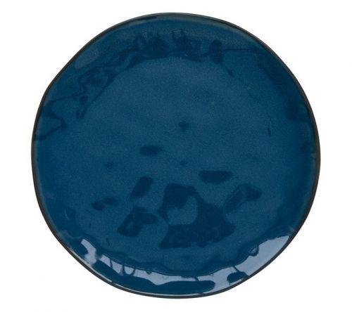Тарелка закусочная (синий) Interiors без инд.упаковки