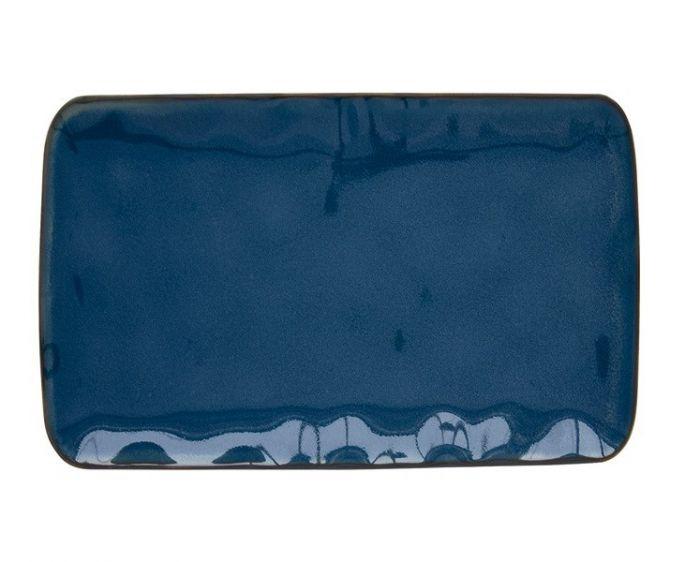 Тарелка прямоугольная (синий) Interiors без инд.упаковки