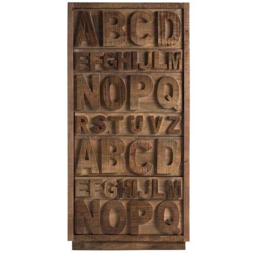"""Комод """"Alphabeto Birch"""" темный (высокий)"""