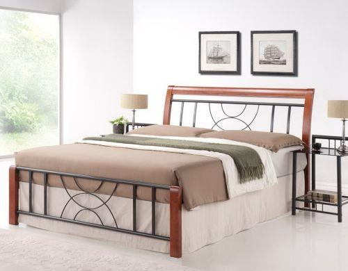 Кровать Signal CORTINA (черешня античная/черный) 160/200