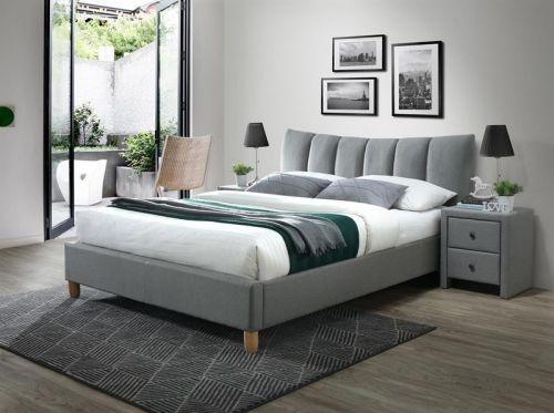 Кровать Halmar SANDY 2 (серый/бук) 160/200