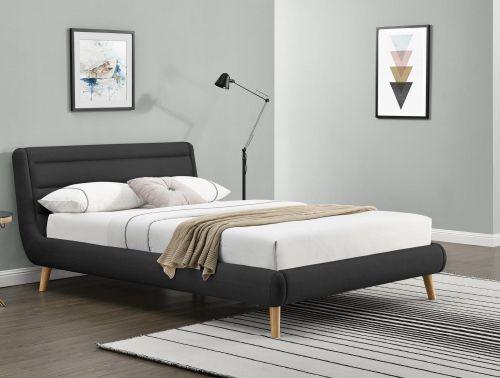 Кровать Halmar ELANDA (темно-серый) 140/200