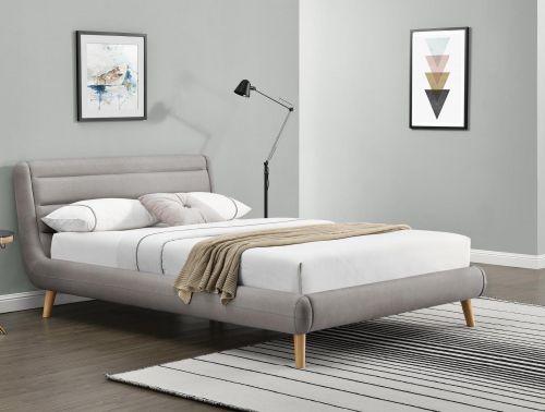 Кровать Halmar ELANDA (светло-серый) 140/200