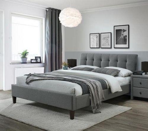 Кровать Halmar SAMARA 2 (серый/орех) 160/200