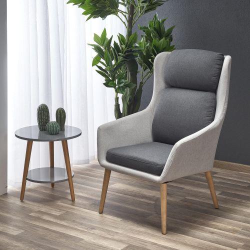 Кресло Halmar PURIO (светло-серый/темно-серый)