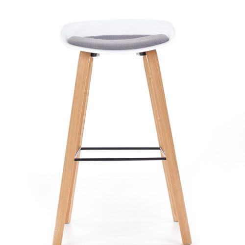 Барный стул Halmar H-86 (белый/серый)