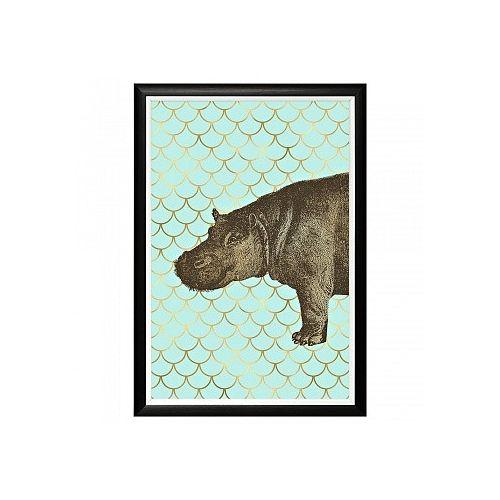 Арт-постер «Самый обыкновенный бегемот»