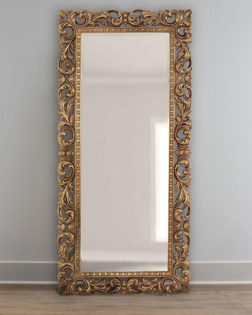 """Напольное зеркало """"Кингстон"""" 19C. Gold"""