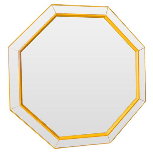 Зеркало Yellow octagon