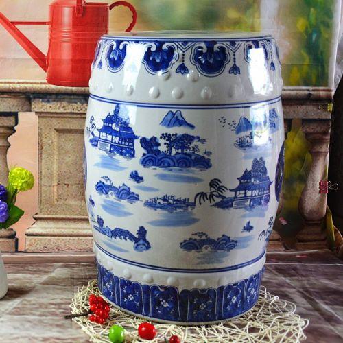 Керамический табурет Китайский сад