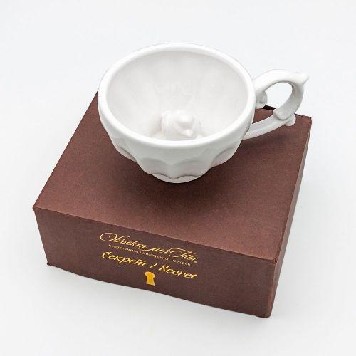 Чашка чайная «Секрет», версия «Птица Счастья»