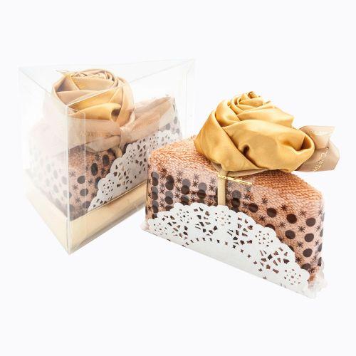 Полотенце столовое для гурманов «Кусочек торта «Золотая роза в карамели»
