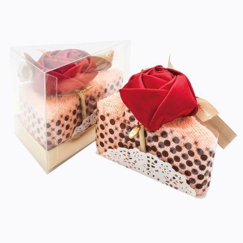 Полотенце столовое для гурманов «Кусочек торта «Рококо в розовой пудре»