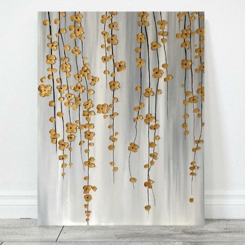Интерьерная картина Золотые цветы